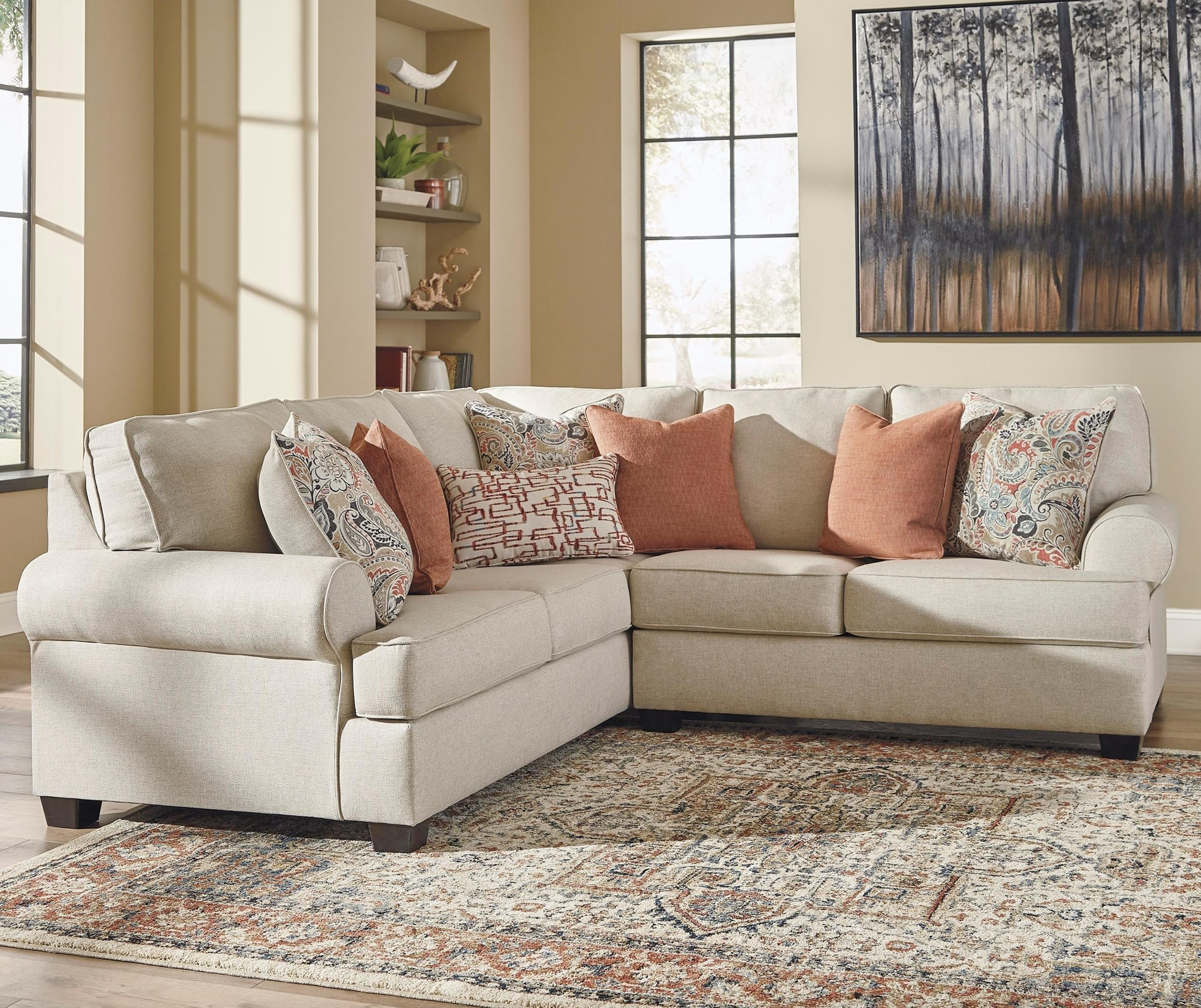 2-Piece Corner Sectional with Rolled Arms