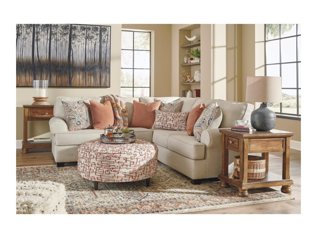 2 Accent Chairs And A Tv And Sectional.Amici 2 Piece Corner Sectional With Rolled Arms By Signature Design By Ashley At Sam Levitz Furniture