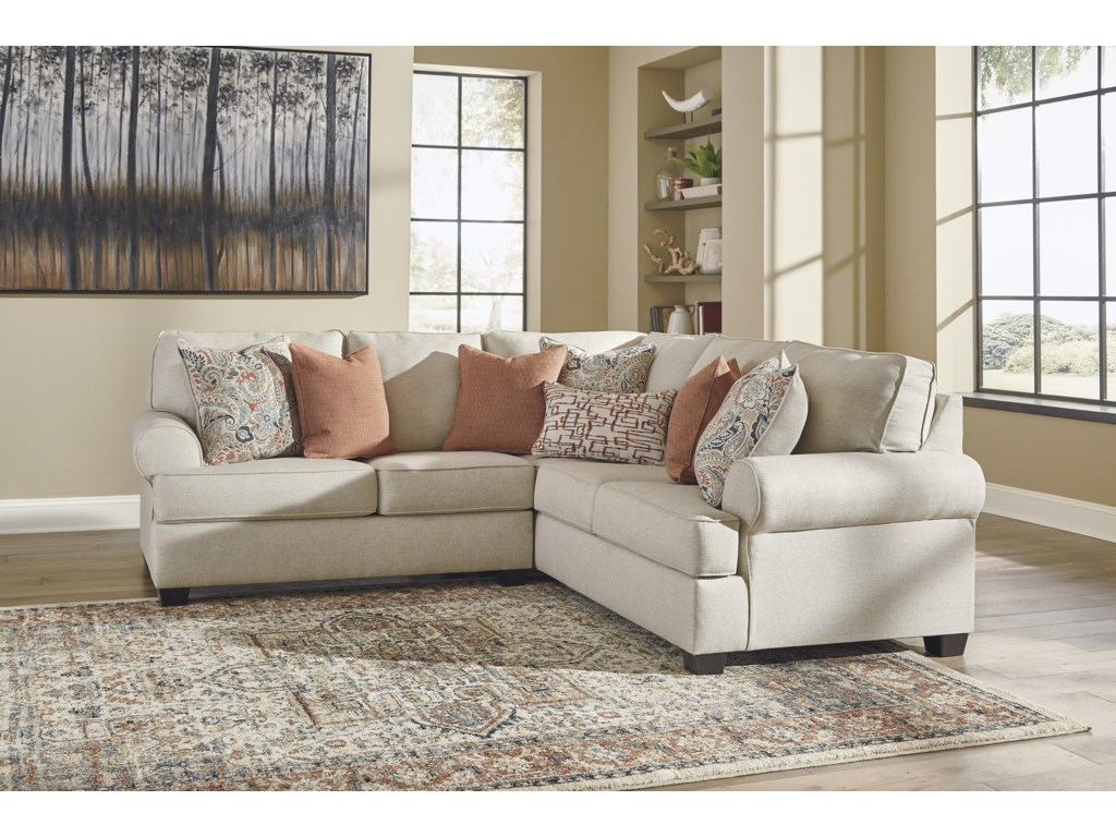 Signature Design by Ashley Amici2 PC Sectional and Ottoman Set