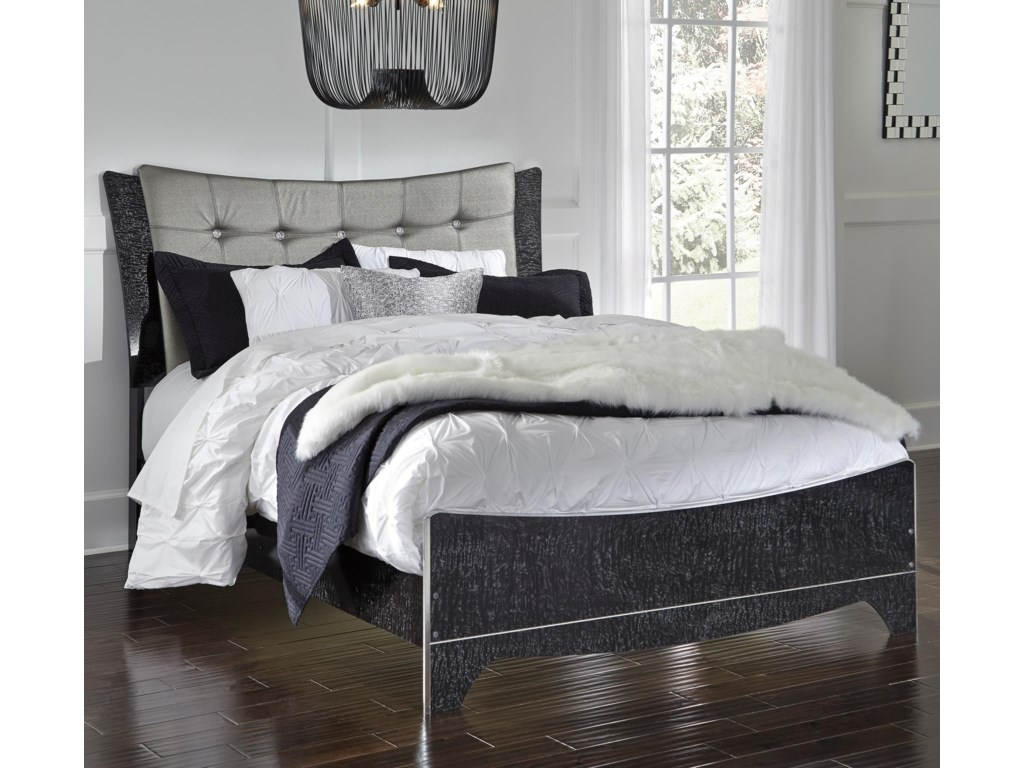 Signature Design by Ashley AmrothiQueen Upholstered Panel Bed