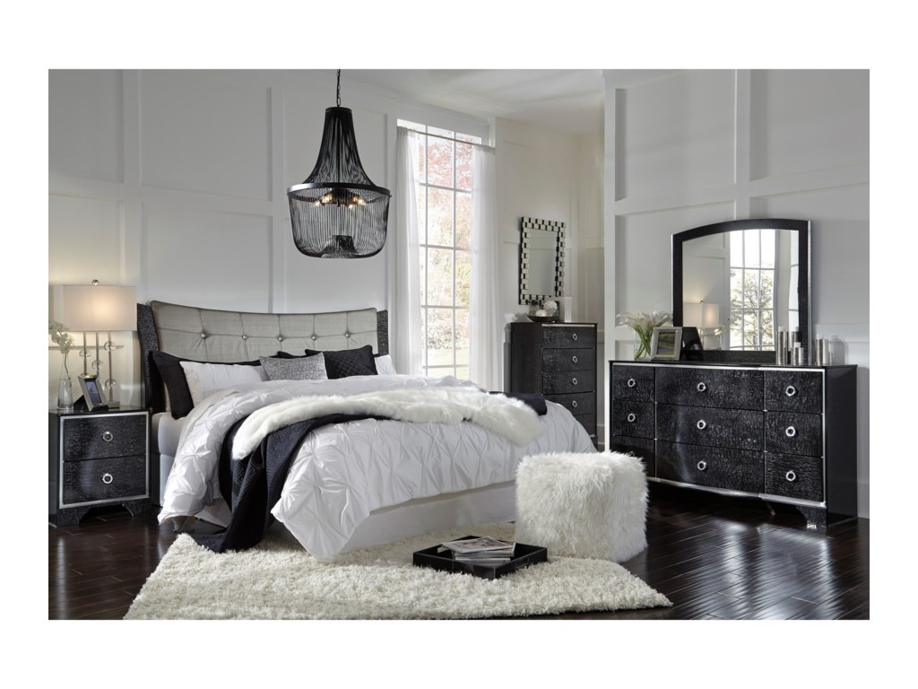 Ashley (Signature Design) AmrothiKing/Cal King Upholstered Panel Headboard