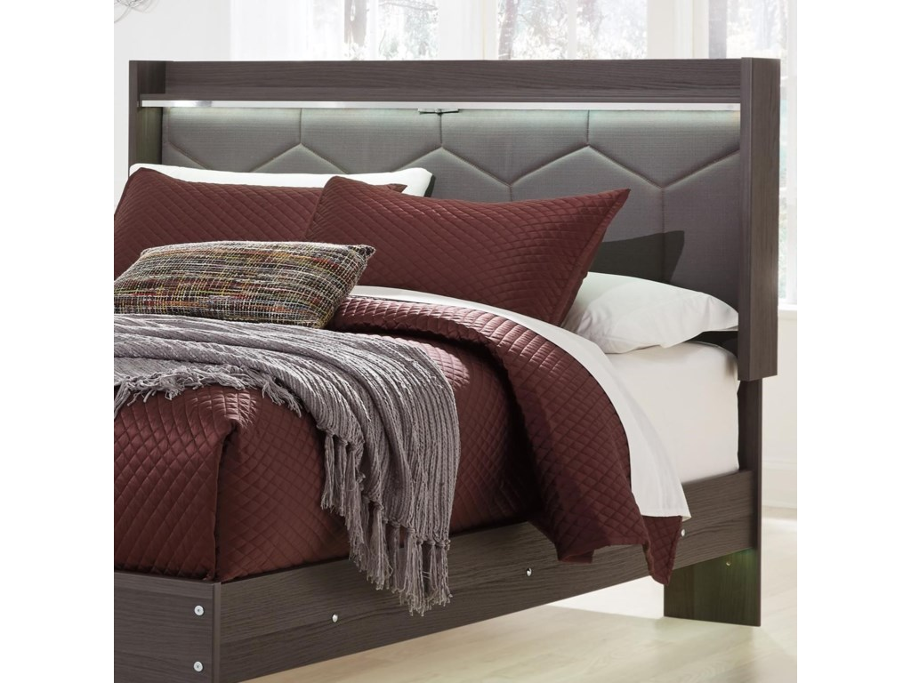 Ashley (Signature Design) AnnikusQueen Upholstered Panel Headboard
