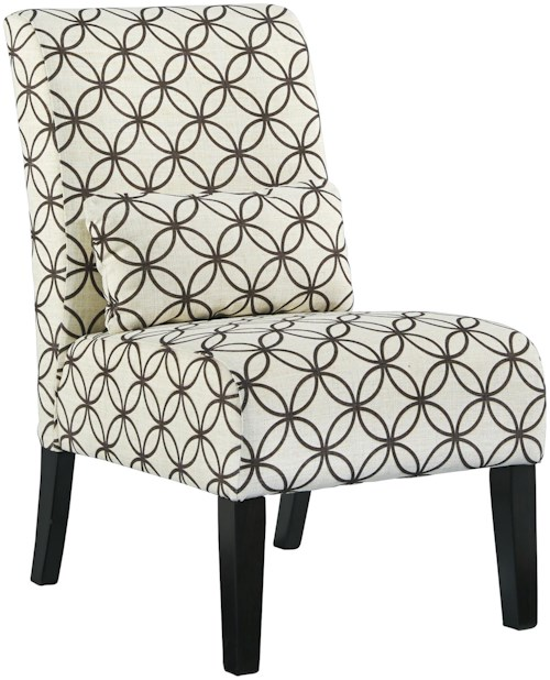 Signature Design by Ashley Annora - Brown Transitional Armless Accent Chair with Pillow
