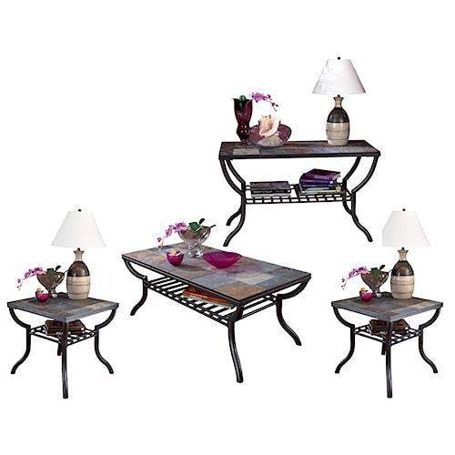 Signature Design by Ashley Antigo 4-Piece Occasional Table Set