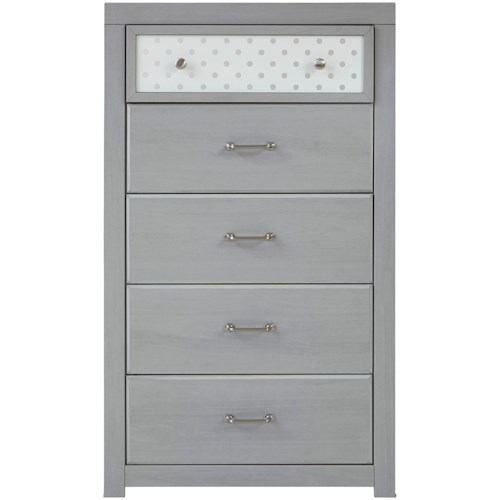 Signature Design by Ashley Arcella 5-Drawer Chest with Reversible Panel