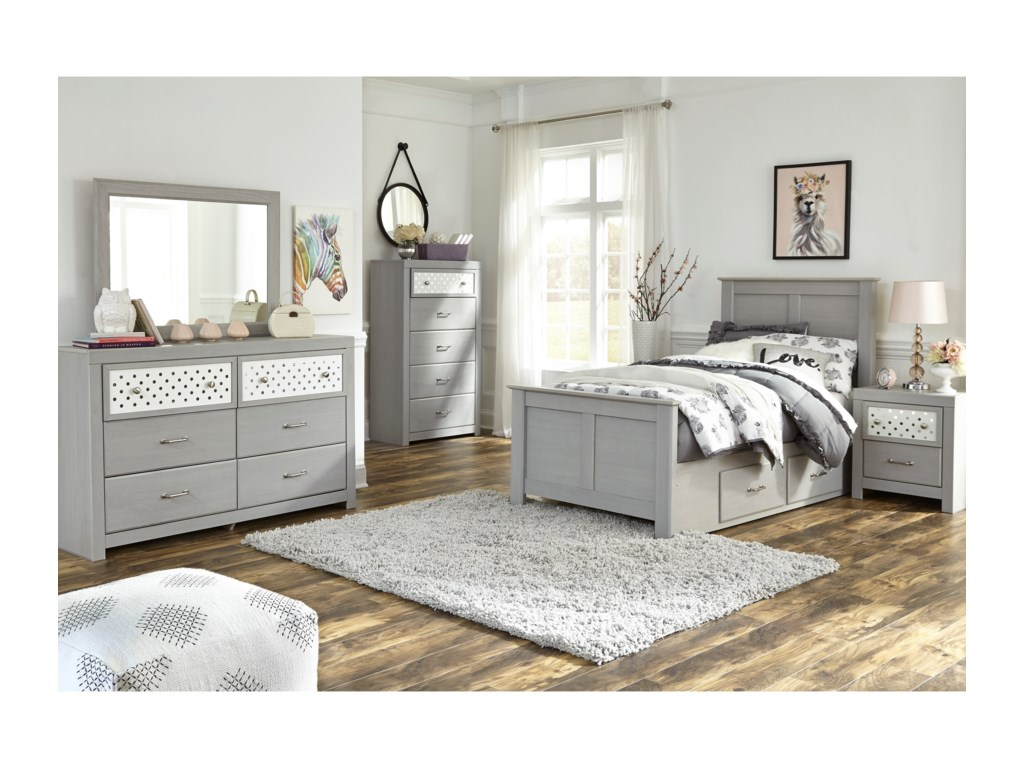 Signature Design by Ashley ArcellaTwin Side Storage Bed