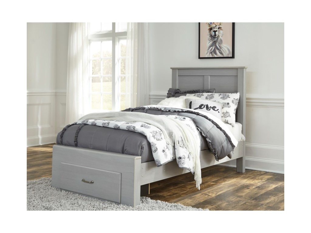 Signature Design by Ashley ArcellaTwin Bed with Footboard Drawer