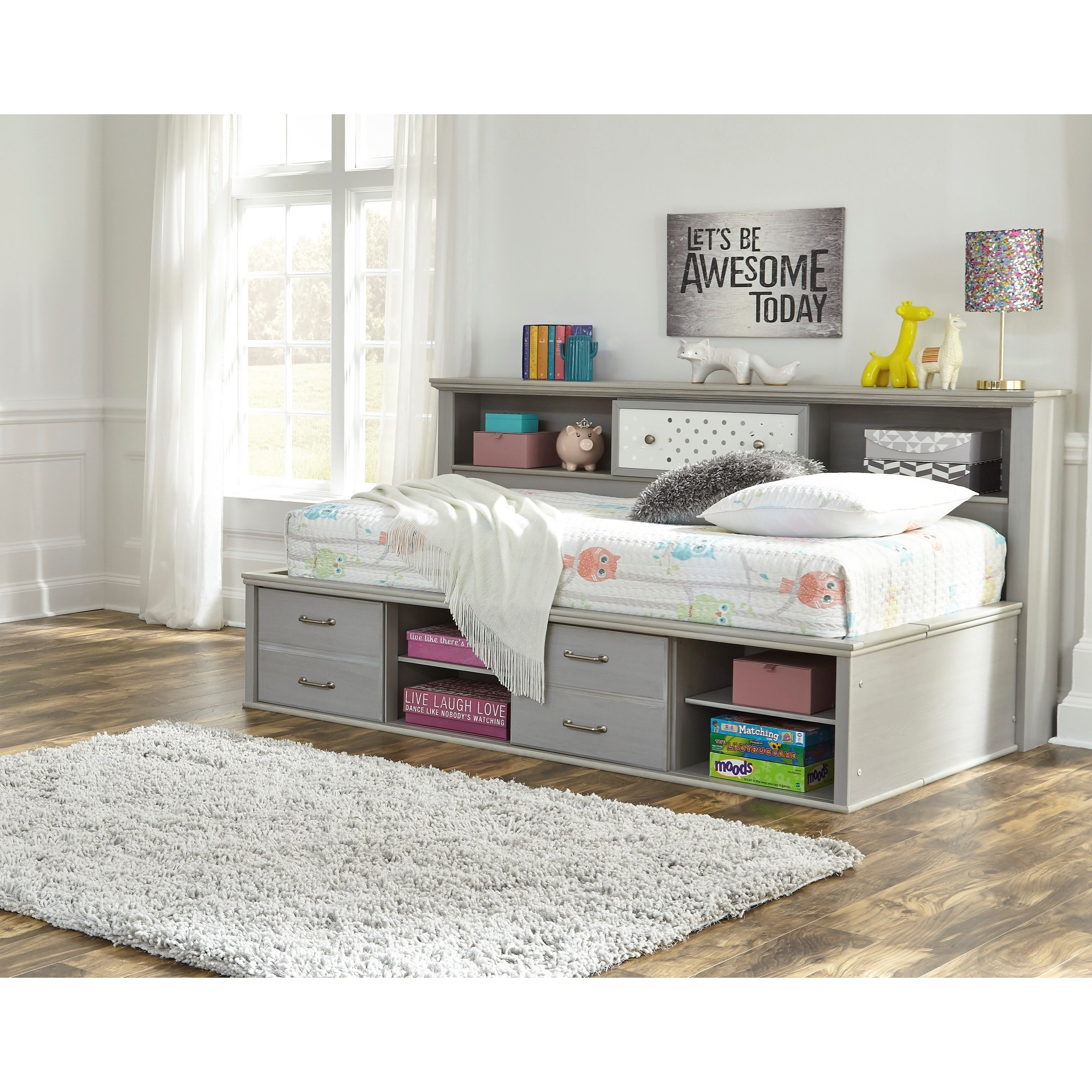 - Signature Design By Ashley Arcella Twin Bookcase Daybed With
