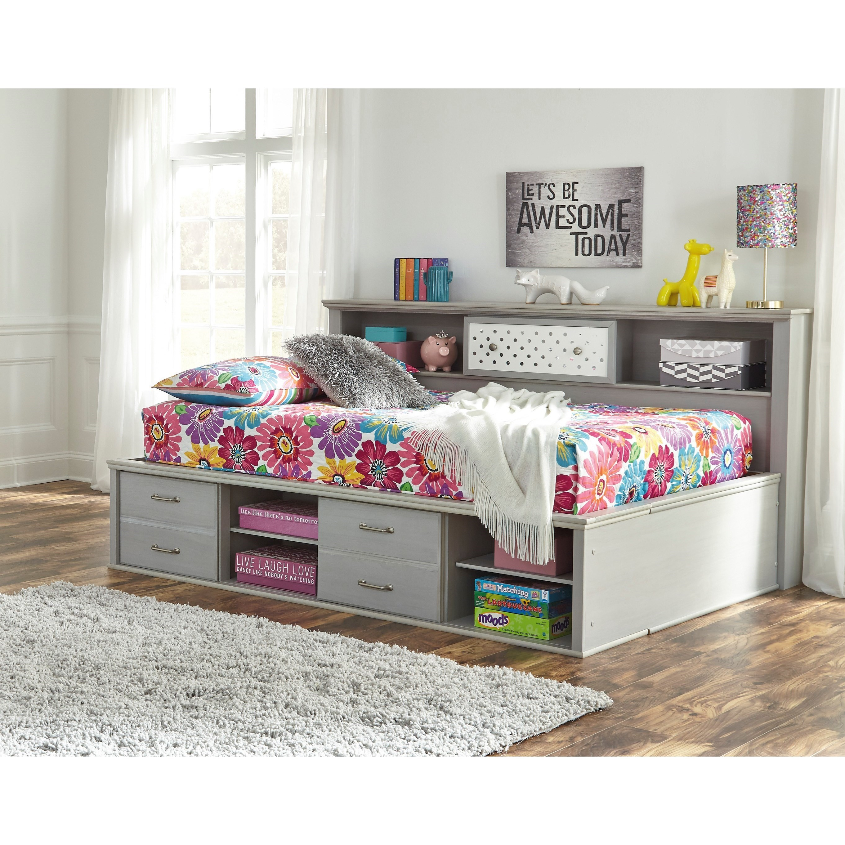 - Signature Design By Ashley Arcella Full Bookcase Daybed With