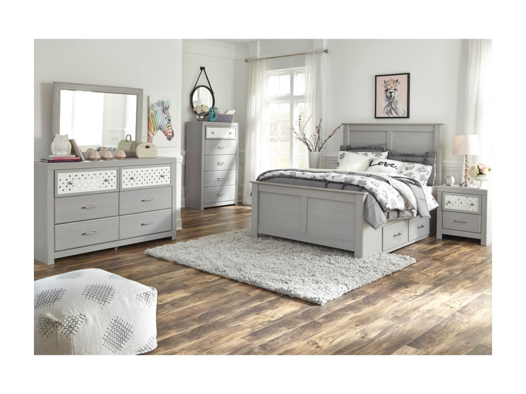 Signature Design by Ashley ArcellaFull Side Storage Bed