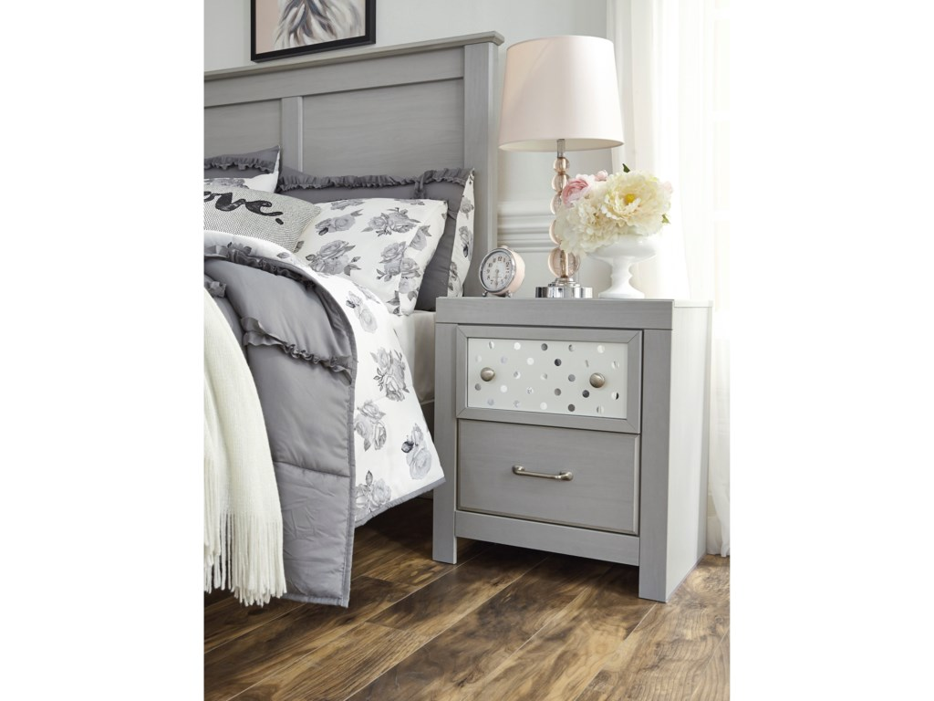 Signature Design by Ashley Arcella2-Drawer Nightstand