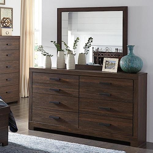 Signature Design by Ashley Arkaline Modern Rustic Dresser & Bedroom Mirror
