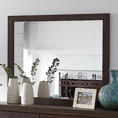 Signature Design by Ashley Arkaline Modern Rustic Bedroom Mirror