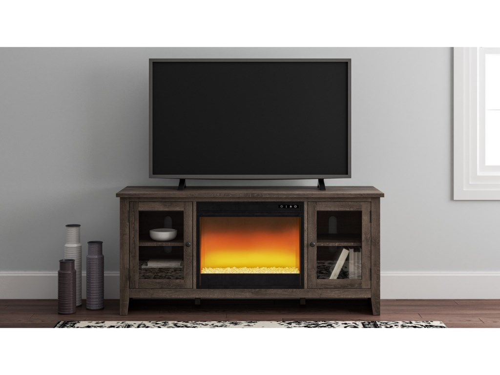 Signature Design by Ashley ArlenbryLarge TV Stand w/ Fireplace Insert