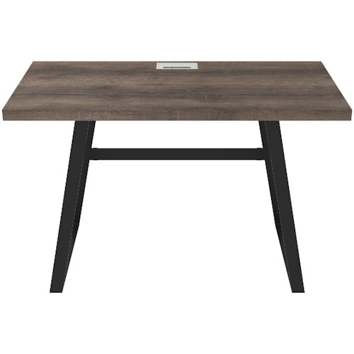 Signature Design by Ashley Arlenbry Home Office Small Desk with Black Metal Base