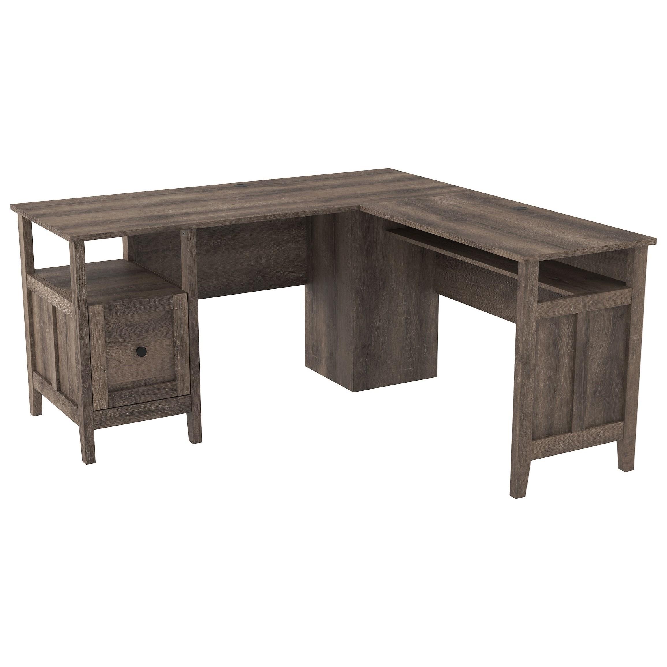 Signature Design By Ashley Arlenbry Contemporary L Shape Home Office Desk Royal Furniture L Shape Desks