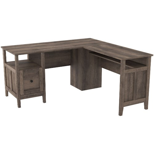 Signature Design by Ashley Arlenbry Contemporary L-Shape Home Office Desk