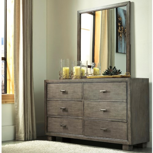 Signature Design by Ashley Arnett Contemporary Dresser and Mirror Set