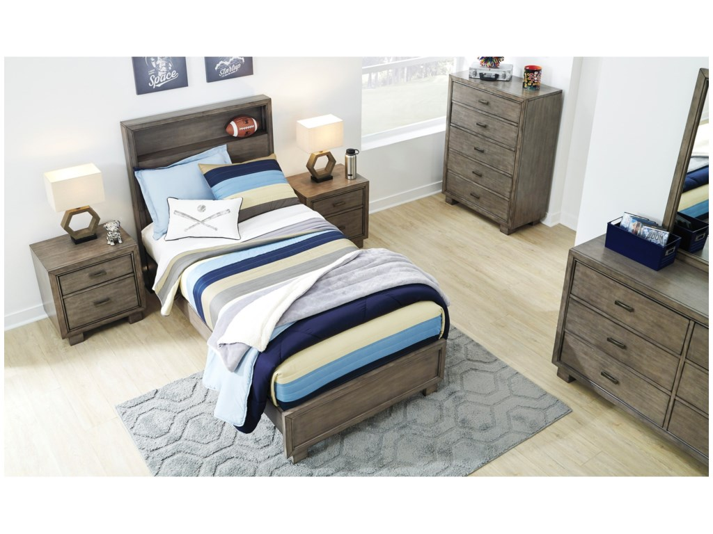Signature Design by Ashley ArnettTwin Bed