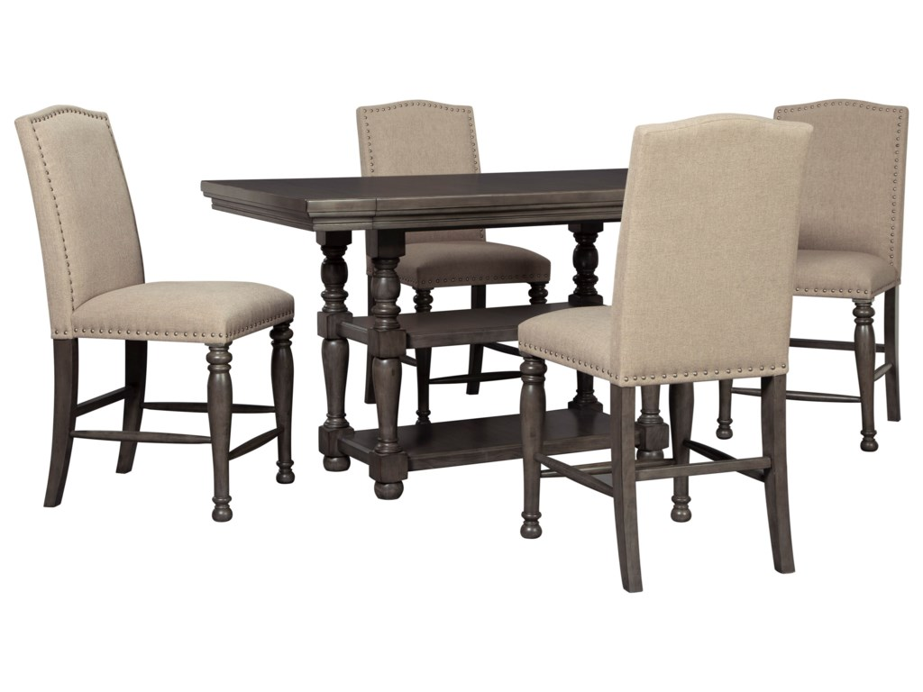 Signature Design by Ashley AudberryFive Piece Chair & Table Set