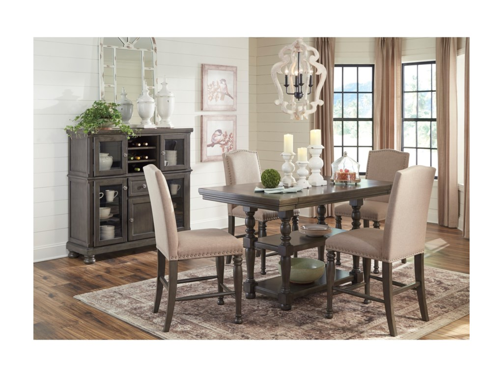 Signature Design AudberryFive Piece Chair & Table Set