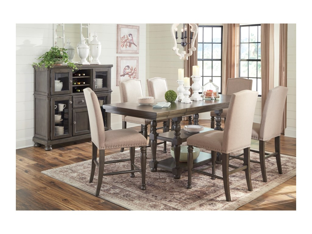 Ashley (Signature Design) Audberry7 Piece Dining Table Set