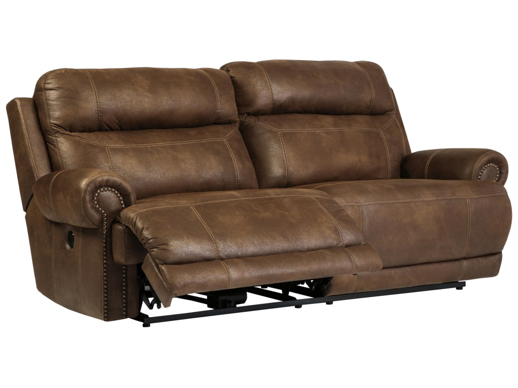 Signature Design by Ashley Austere - Brown2 Seat Reclining Power Sofa