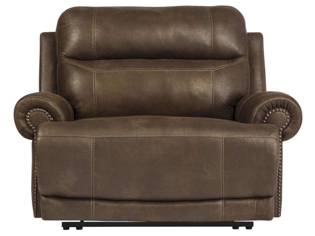 Ashley (Signature Design) Austere - BrownZero Wall Recliner