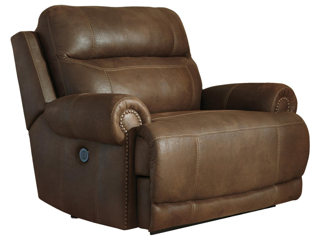 Signature Design by Ashley Austere - BrownZero Wall Power Wide Recliner