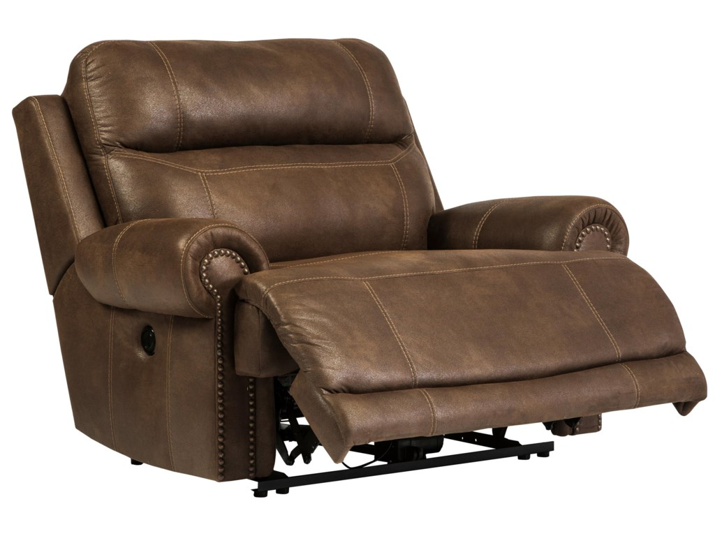 size leather wide a half power and microfiber oversized large of mocha double recliner contemporary chair rocker in