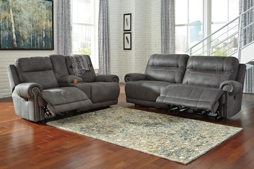 Signature Design by Ashley Austere - Gray Power Reclining Living Room Group