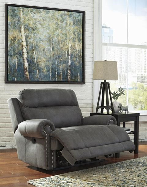 Signature Design by Ashley Austere - GrayZero Wall Recliner