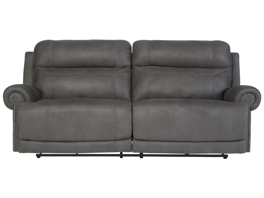 Signature Design by Ashley Austere - Gray2 Seat Reclining Sofa
