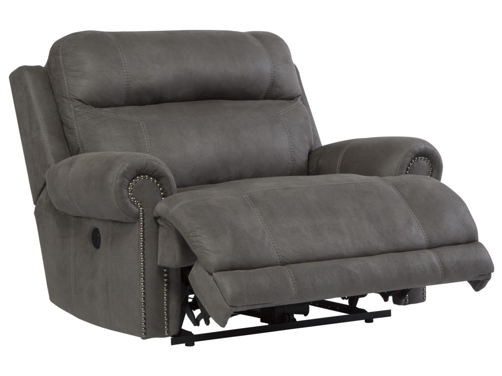 Signature Design by Ashley Austere - GrayZero Wall Power Wide Recliner