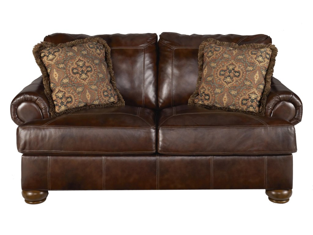 Signature Design by Ashley Axiom - WalnutStationary Loveseat