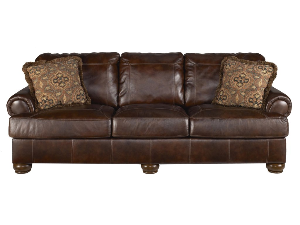 Signature Design by Ashley Axiom - WalnutStationary Sofa