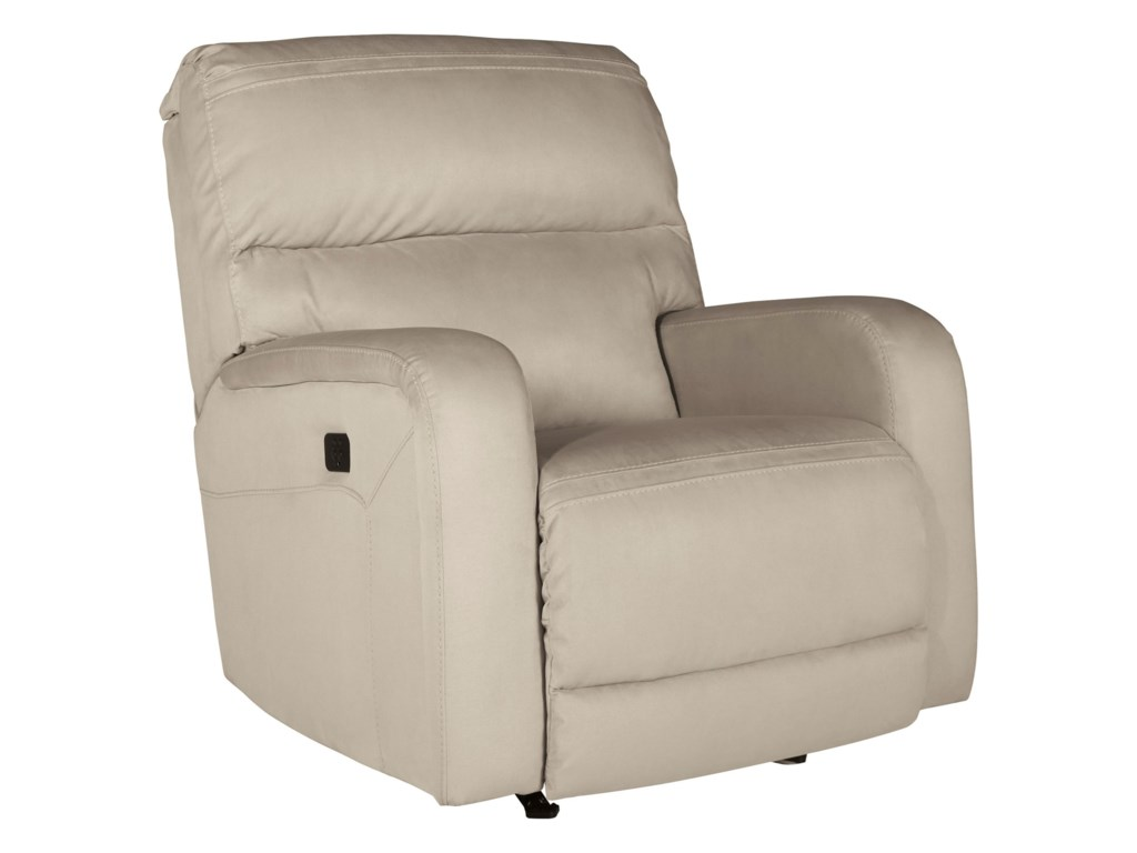Signature Design by Ashley AzzedellaPower Rocker Recliner w/ Adjustable Headrest