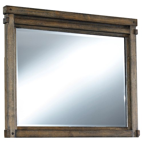 Signature Design by Ashley Leystone Contemporary Mirror with Wood Frame