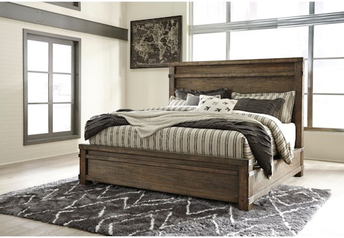 Signature Design by Ashley Leystone Contemporary King Bed with Low-Profile Footboard