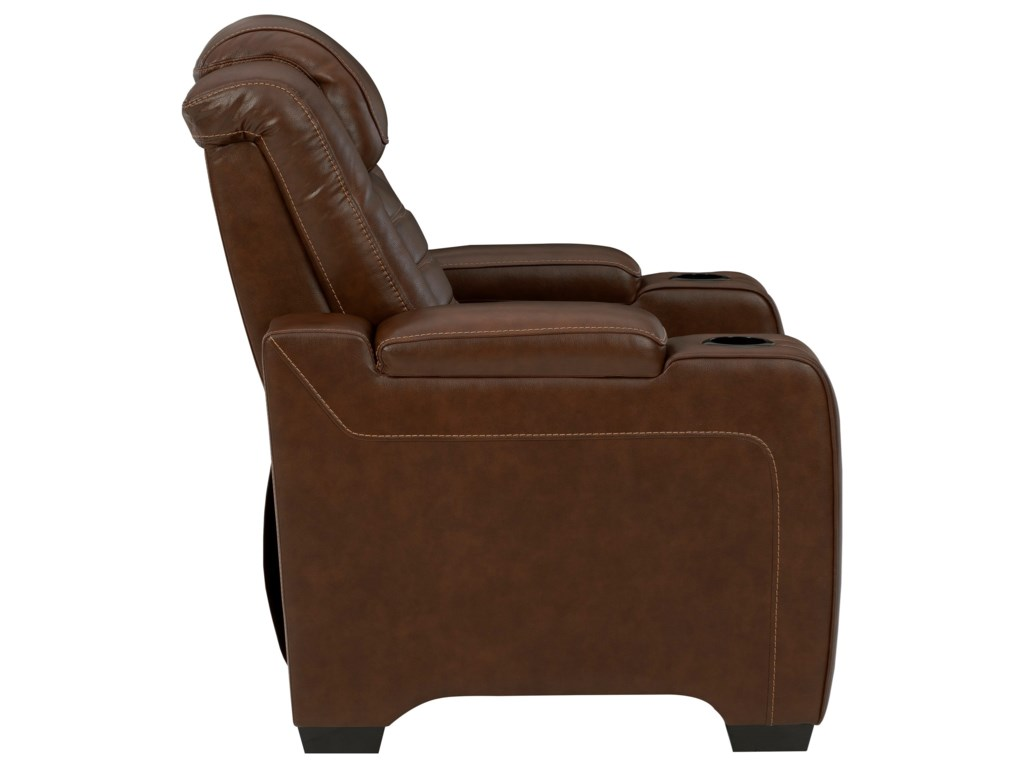 Signature Design by Ashley BacktrackPower Recliner w/ Adjustable Headrest