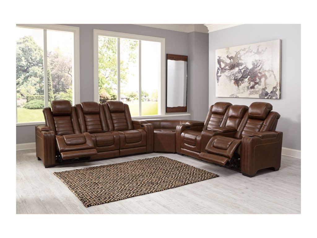 Signature Design by Ashley BacktrackPower Reclining Sectional
