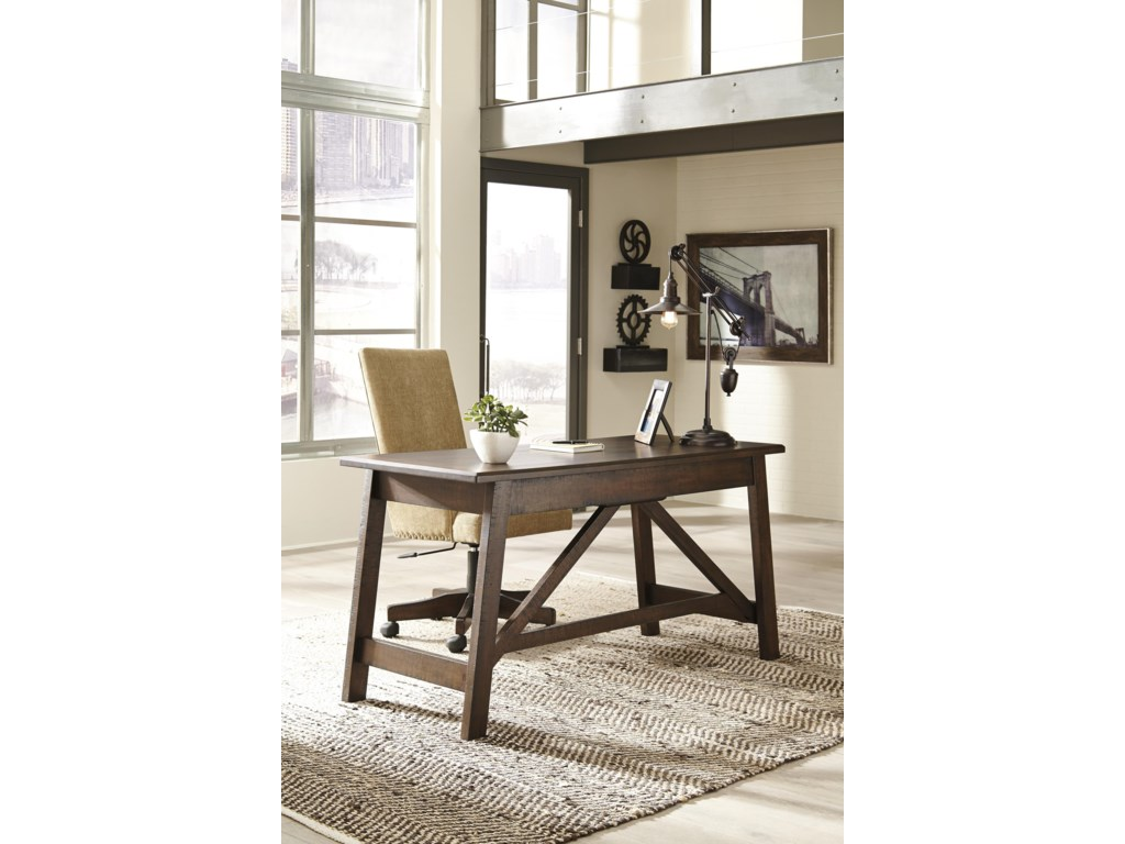 Signature Design by Ashley BaldridgeHome Office Desk and Office UPH Swivel Chair