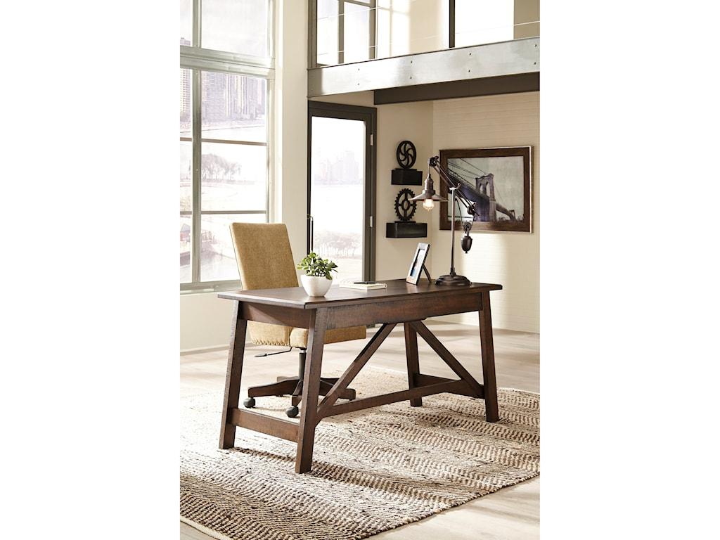 Signature Design by Ashley BaldridgeUpholstered Swivel Desk Chair