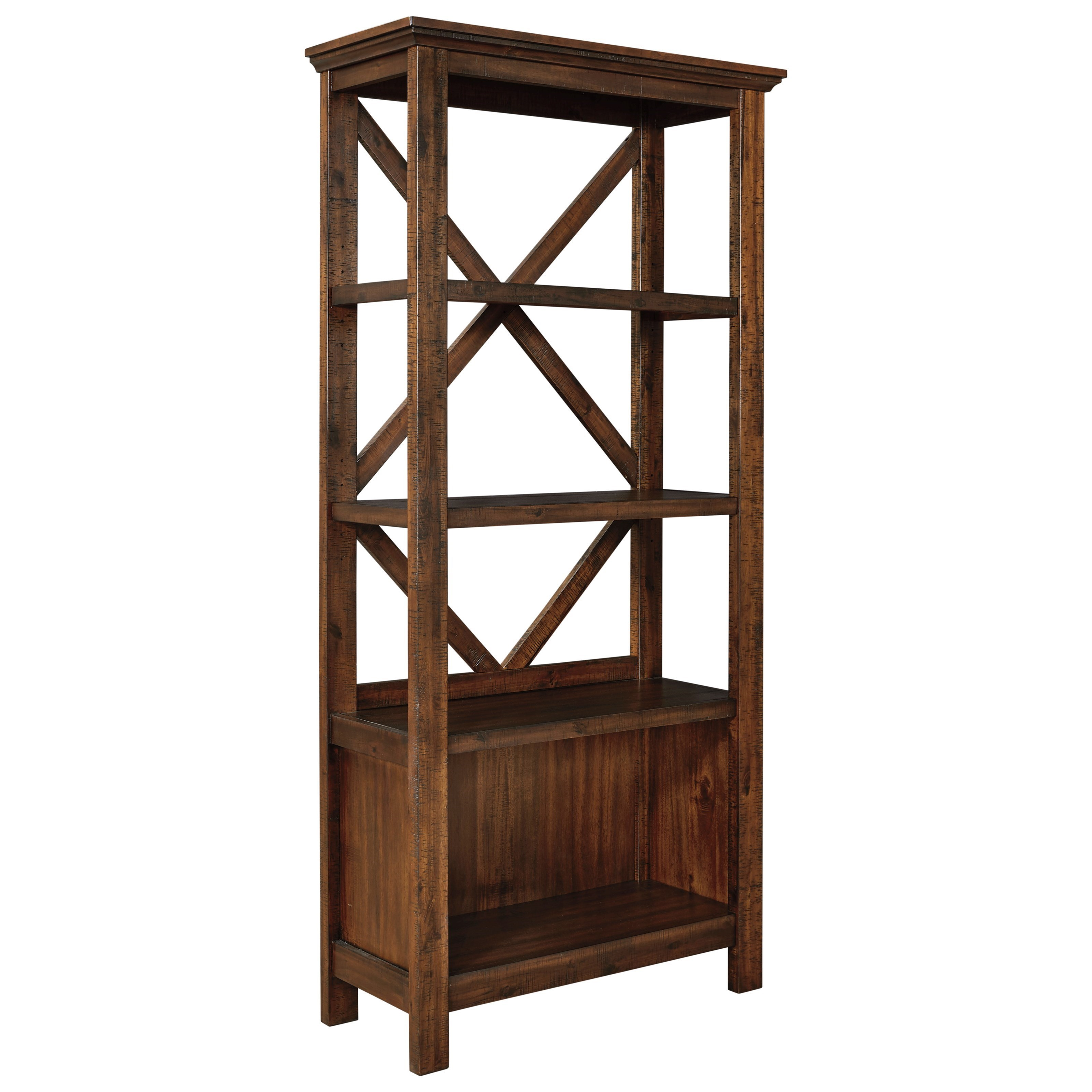 Large Bookcase with Crossbuck Supports