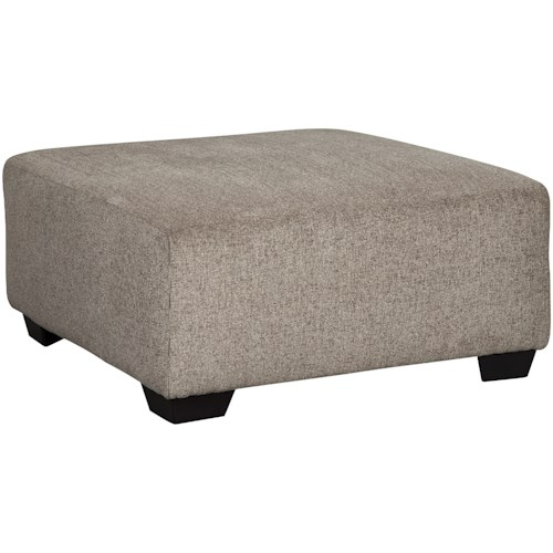Signature Design by Ashley Ballinasloe Contemporary Oversized Accent Ottoman