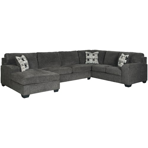 Signature Design by Ashley Ballinasloe Contemporary 3-Piece Sectional with Chaise