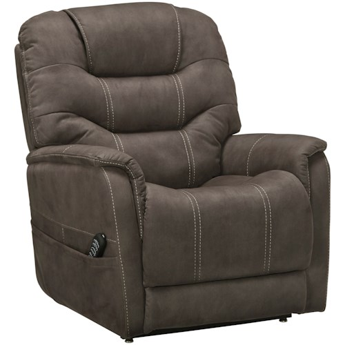 Signature Design by Ashley Ballister Power Lift Recliner with Power Adjustable Lumbar and Headrest
