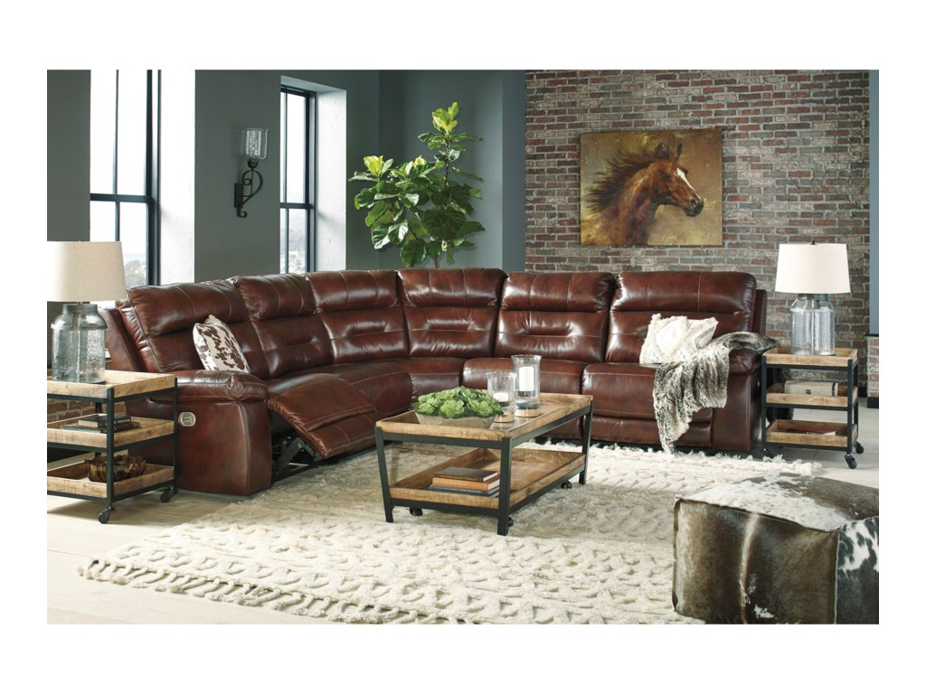 Signature Design by Ashley BanckerPower Reclining Sectional