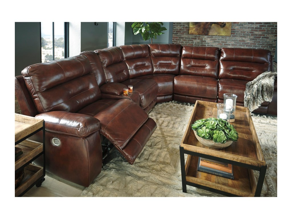 Ashley (Signature Design) BanckerPower Reclining Sectional
