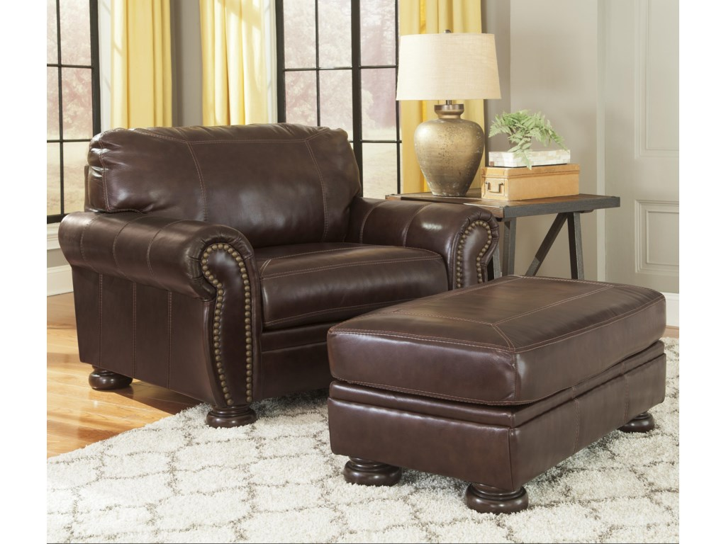 Signature Design by Ashley BannerChair and a Half & Ottoman